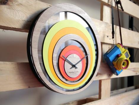 Horloge Illusion, grand modèle, vue de profil 2