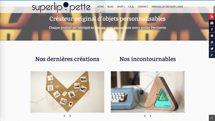 Notre nouvelle home page