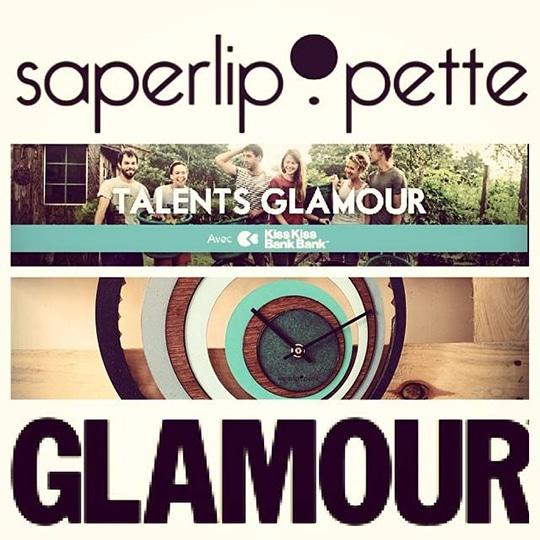 Saperlipopette sélectioné par Glamour sur KissKissBankBank